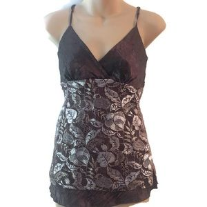 Vanity camisole XS brown and gold